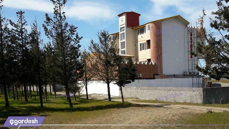 نمای ساختمان هتل آپارتمان المپیک بندر انزلی