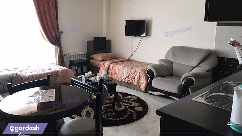 اتاق روبال چهار نفره هتل آپارتمان المپیک بندر انزلی