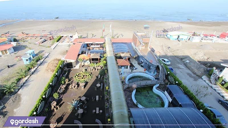فضای سبز هتل دلفین