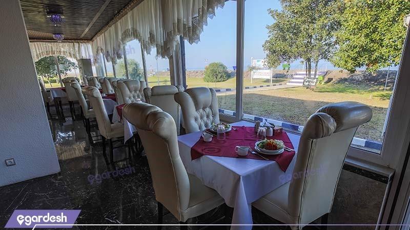 رستوران هتل سفید کنار