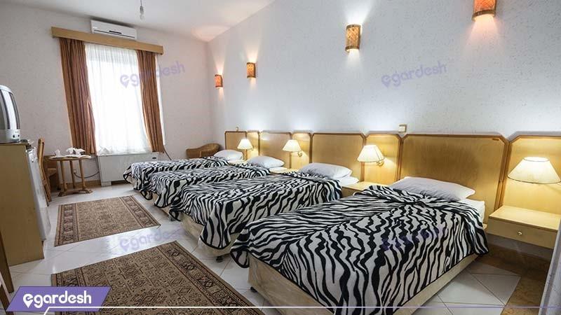 اتاق چهار نفره هتل ساحلی مروارید صدرا