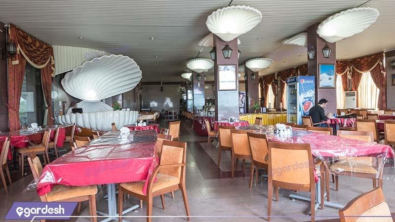 رستوران هتل ساحلی مروارید صدرا