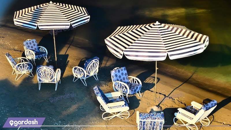 محوطه نشیمن ساحل هتل نارین