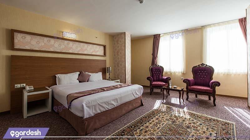 اتاق دبل طلایی هتل آوین