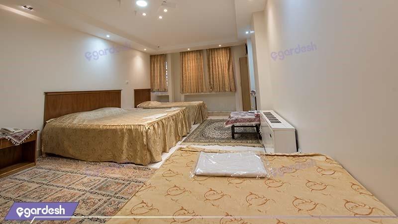 اتاق چهار نفره هتل ملک