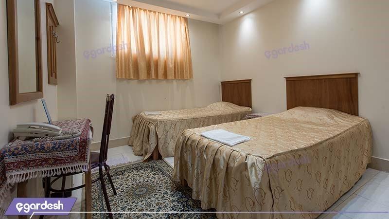 اتاق دو نفره هتل ملک