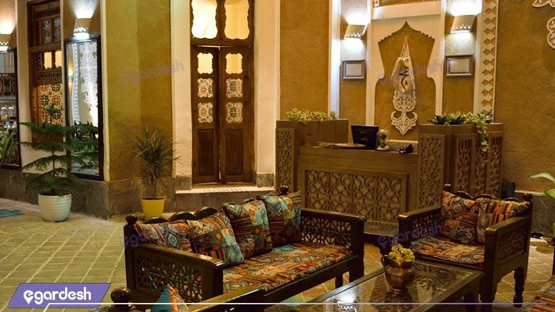 رستوران فضای باز هتل سنتی