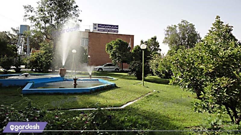 نمای ساختمان مهمانسرای جهانگردی فیروزآباد