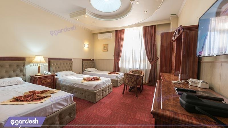 اتاق سه تخته هتل خورشید