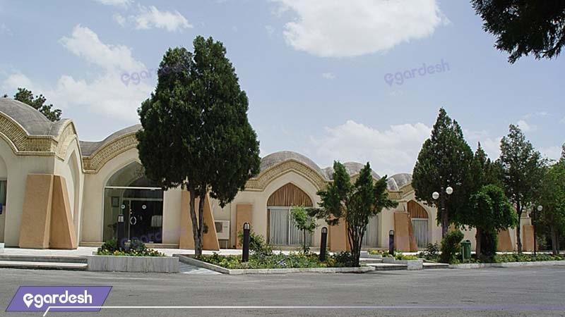 نمای ساختمان مهمانسرای جهانگردی گلپایگان