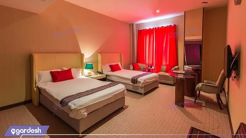 اتاق دو نفره هتل قصر بوتانیک