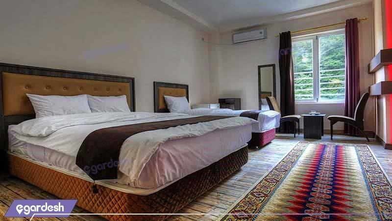 اتاق سه تخته هتل شهاب ناهار خوران