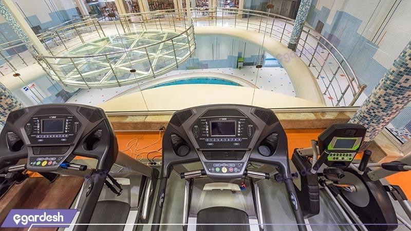 سالن بدنسازی هتل بین المللی بابا طاهر