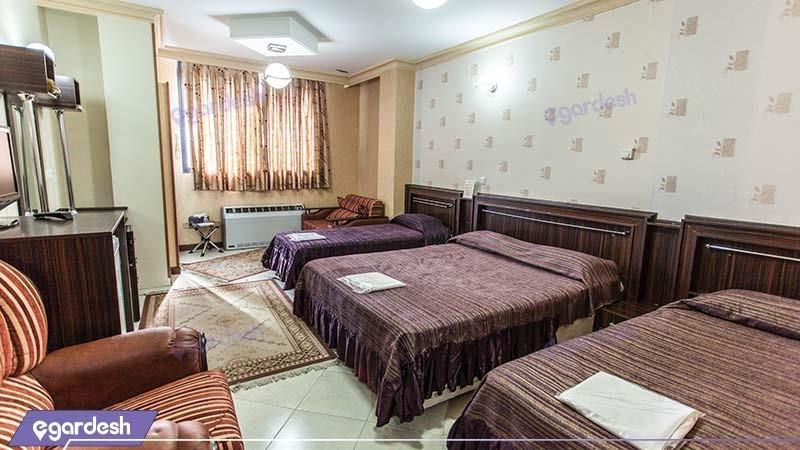 اتاق چهار نفره هتل جهانگردی ماهان