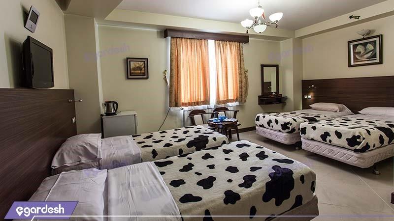 اتاق چهار نفره هتل پارت