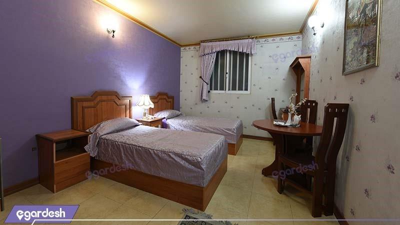 اتاق دو نفره هتل ونوس