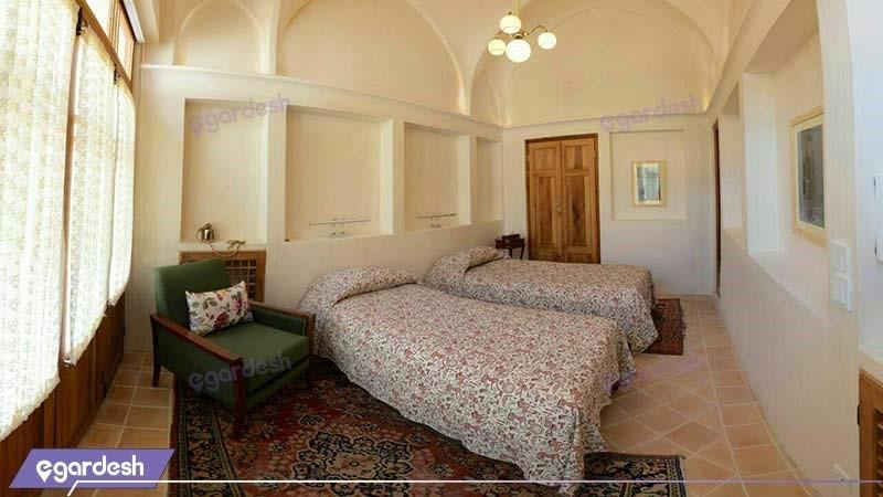 اتاق دو تخته هتل سرای درب باغ