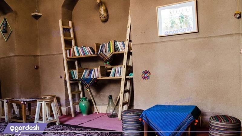 کافه کتاب هتل سنتی خانه نقلی