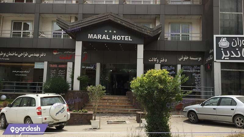 نمای ساختمان هتل مارال