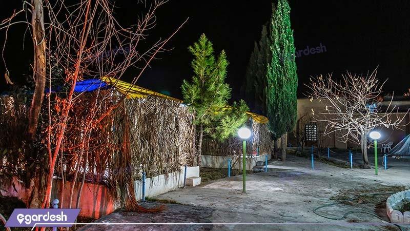 آلاچیق مهمانسرای جهانگردی ماهان کرمان