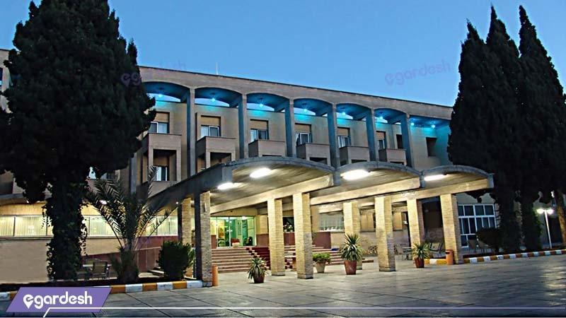 نمای ساختمان هتل جهانگردی کرمان