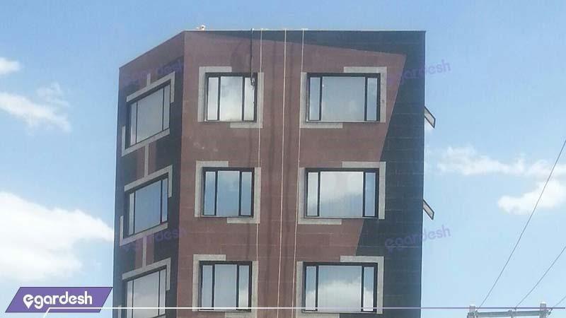 نمای ساختمان هتل آپارتمان کوروش کرمانشاه