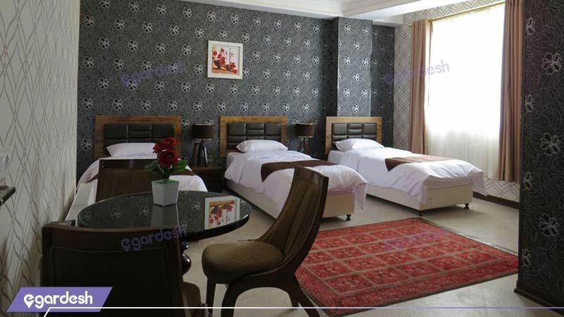 اتاق سه نفره هتل آپارتمان کوروش کرمانشاه
