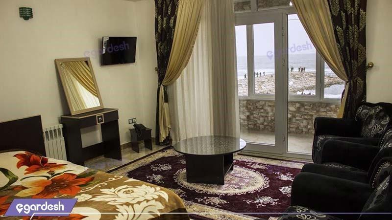 اتاق چهار نفره هتل دریا کنار