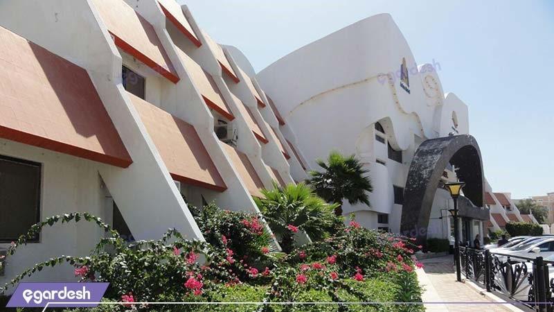 نمای ساختمان هتل آریان کیش