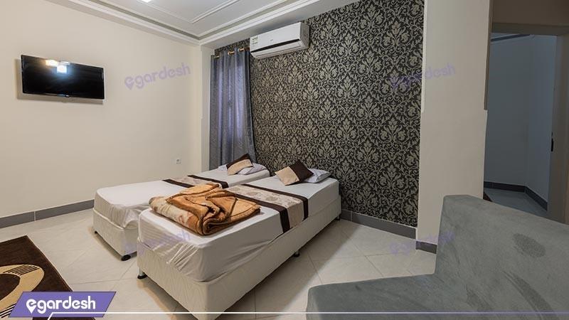 سوئیت یک خوابه چهار نفره هتل ققنوس