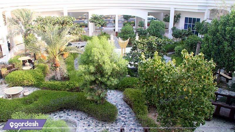حیاط هتل هلیا کیش