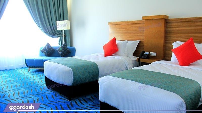 اتاق دو تخته توئین هتل بین المللی کیش