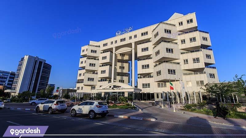 نمای ساختمان هتل ایران کیش