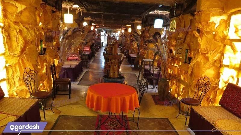چایخانه سنتی هتل جهانگردی آبگرم محلات