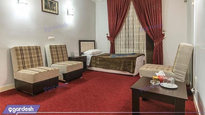 اتاق یکنفره هتل جهانگردی ماکو