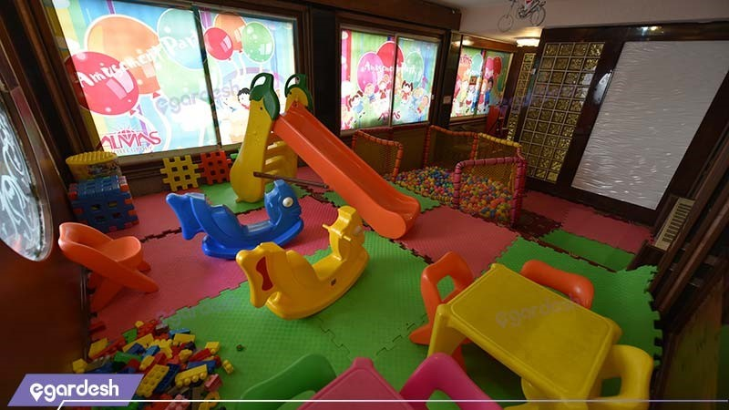 اتاق بازی کودکان هتل الماس مشهد
