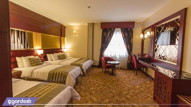 اتاق سه تخته هتل الماس مشهد