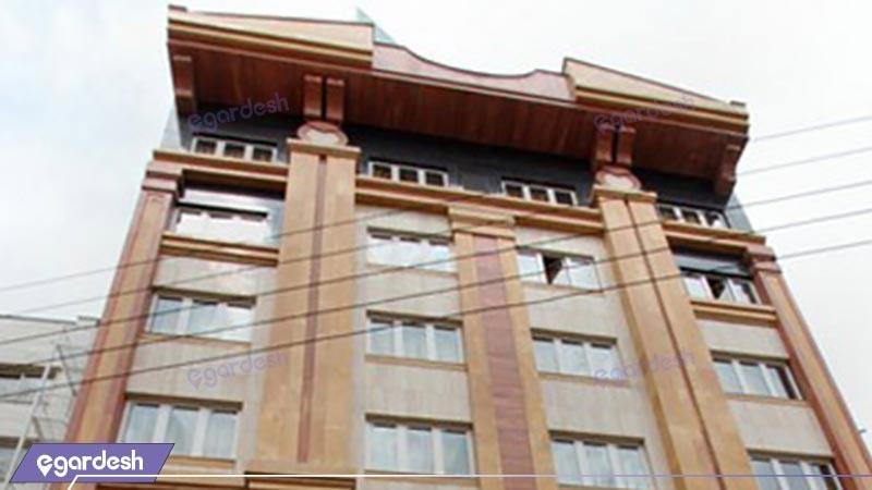 نمای ساختمان هتل آپارتمان بشری