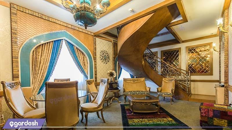 اتاق دوبلکس ایران اسلام هتل مجلل درویشی