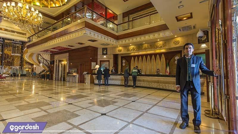 پذیرش هتل مجلل درویشی