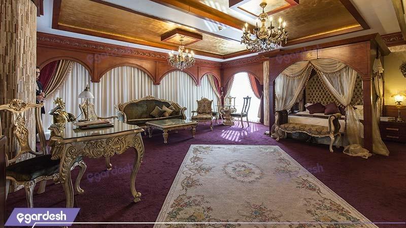 اتاق پنت هاوس رم هتل مجلل درویشی