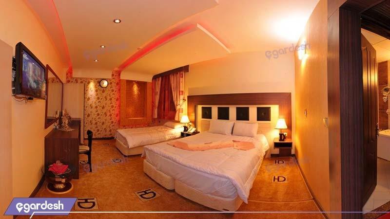 اتاق سه تخته هتل دیپلمات مشهد