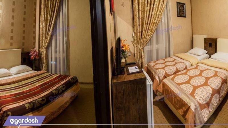 اتاق چهار تخته هتل فرهنگ و هنر
