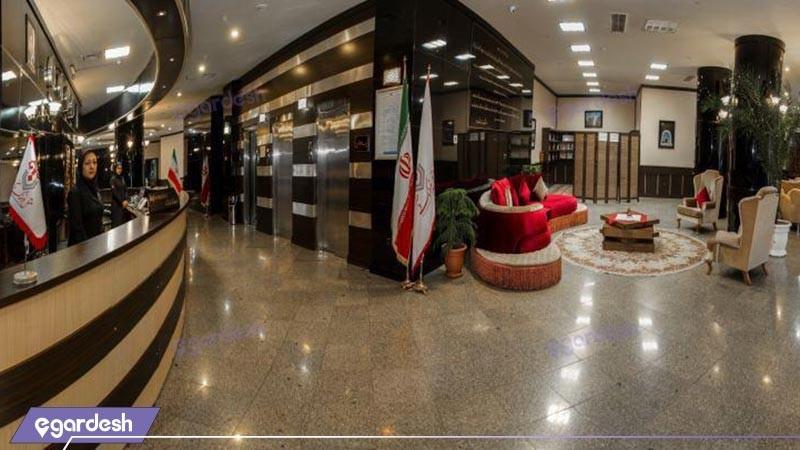 پذیرش هتل فرهنگ وهنر