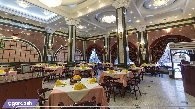 رستوران غذاهای دریایی هتل بین المللی قصر