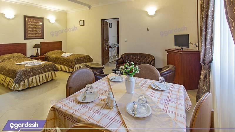 اتاق چهار نفره هتل هلیا مشهد