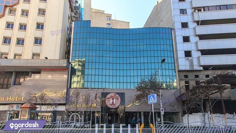 نمای ساختمان هتل ایران مشهد
