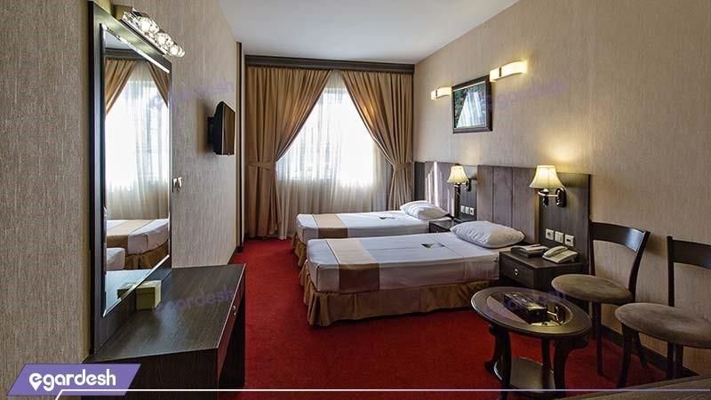 اتاق دو نفره هتل کیانا