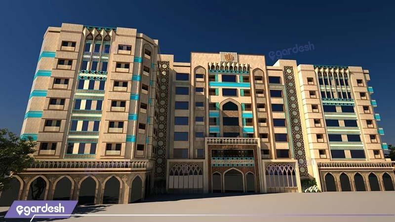 نمای هتل مدینه الرضا مشهد
