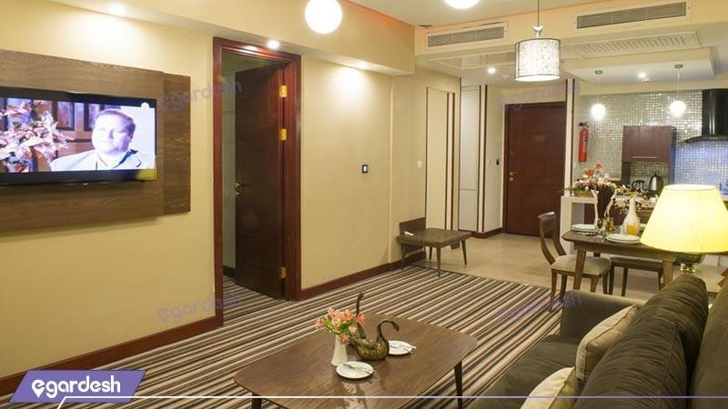آشپزخانه سوئیت  هتل آپارتمان امید